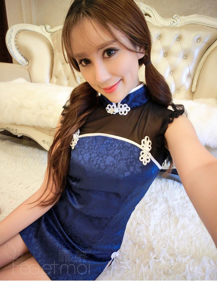 霏慕古典优雅性感旗袍装 修身制服诱惑成人女士情趣内衣