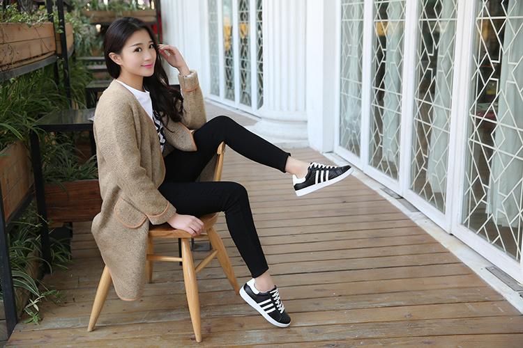 【韩版女明星同款真皮小白鞋】-鞋子-女鞋