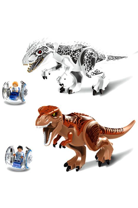 【乐高式拼装积木侏罗纪世界恐龙系列儿童益智玩具】