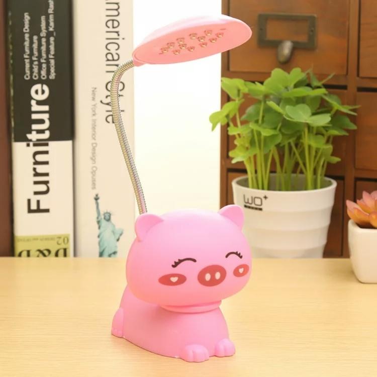 【热卖】创意可爱小动物led充电台灯 学生护眼卧室台灯