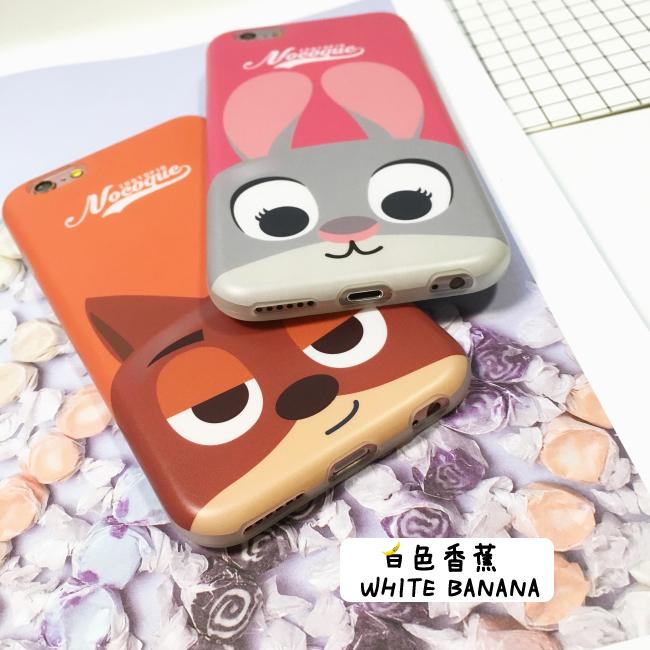 【疯狂动物城iphone6手机壳苹果6s树懒6p软壳兔朱迪