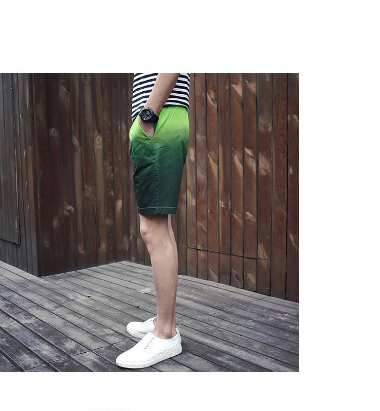 2016夏季新款男士渐变色水墨中国风短裤