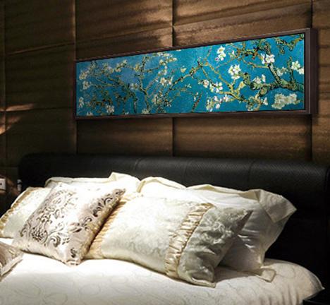 画酒店客房挂画长方形画花