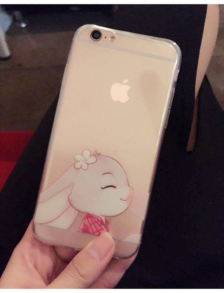【疯狂动物城朱迪尼克小兔狐狸超薄塑胶手机壳】
