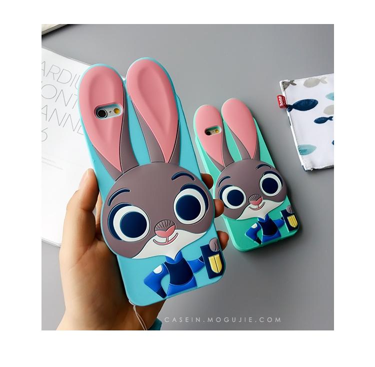 【iphone6手机壳苹果6s疯狂动物城硅胶卡通保护套】