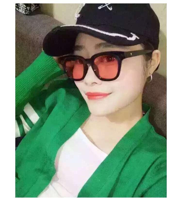 【夏天海边新款权志龙gd同款太阳镜黑色镜架眼镜时尚