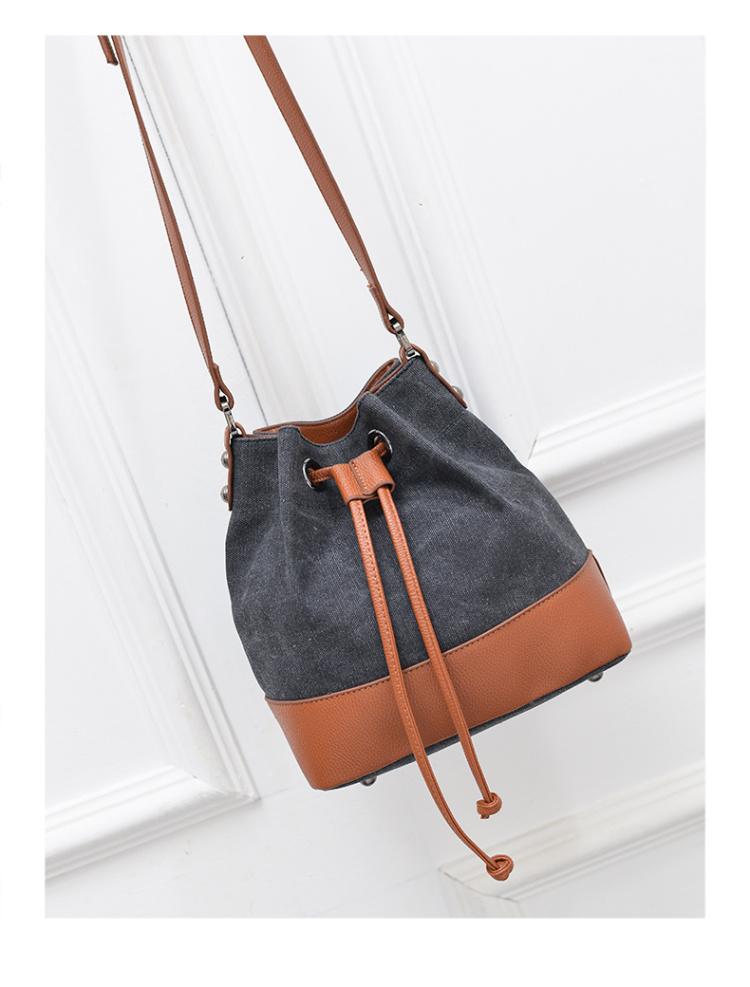 时尚多功能帆布水桶包】-包包-女包