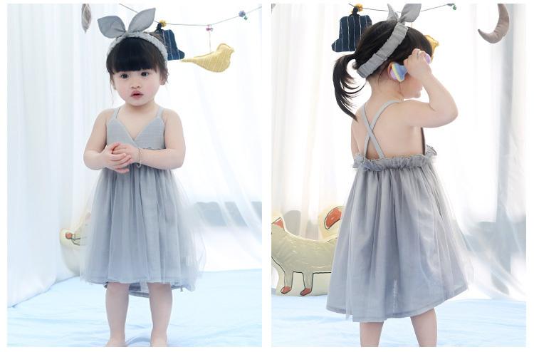 女童女宝宝婴儿蓬蓬度连衣裙公主夏装沙滩吊带裙子1-2-3周岁