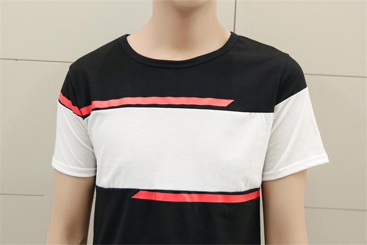 【wj 新款夏季短袖拼接情侣装t恤】-衣服-服饰鞋包