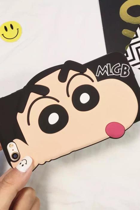 【可爱卡通立体蜡笔小新iphone6s苹果手机壳p硅胶防