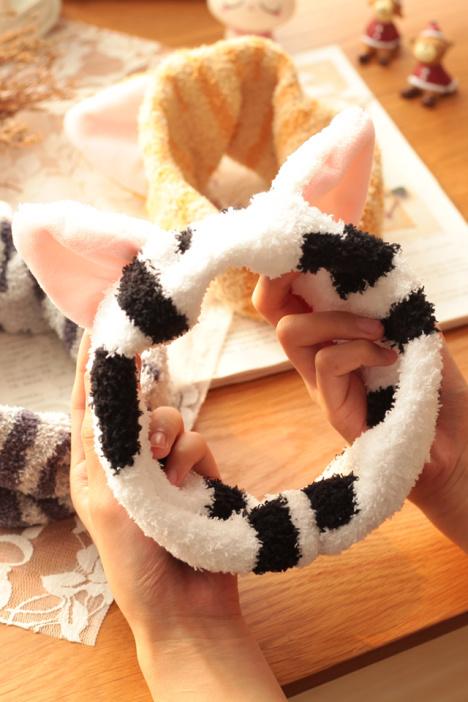 可爱猫耳朵超萌束发带