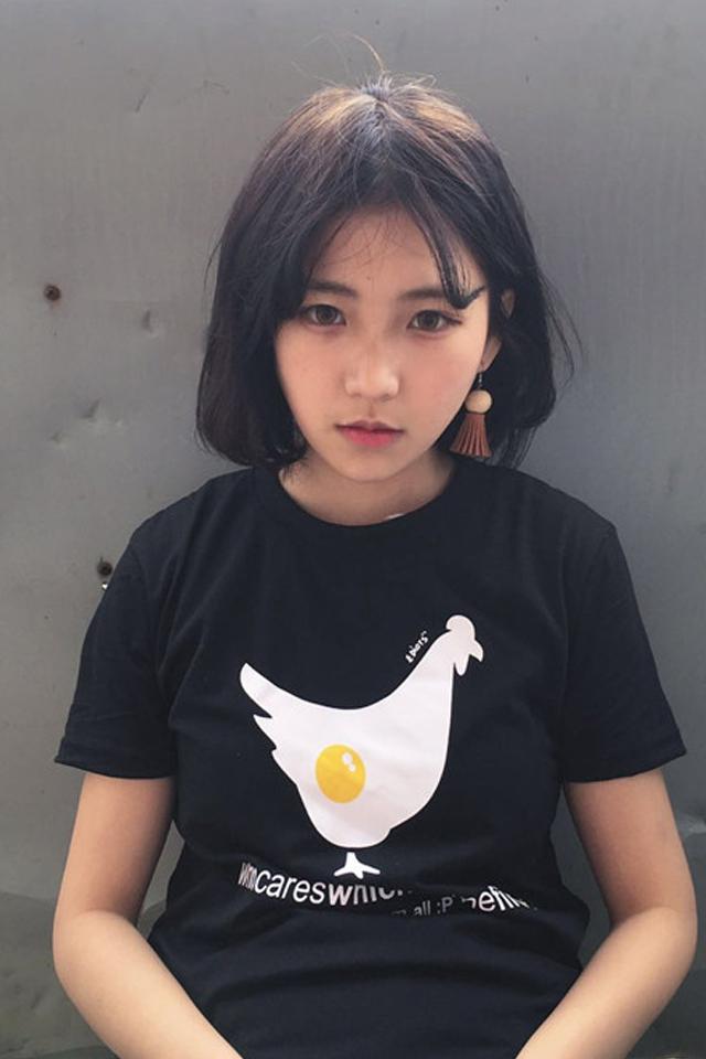【ulzzang定制韩国原宿风卡通短袖t恤情侣装】-衣服