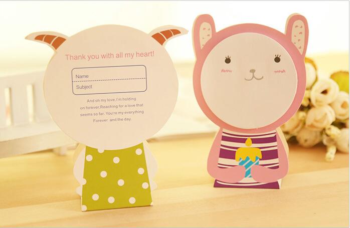 【满39元包邮】动物表情便签纸 便签本 卡通便签 礼物