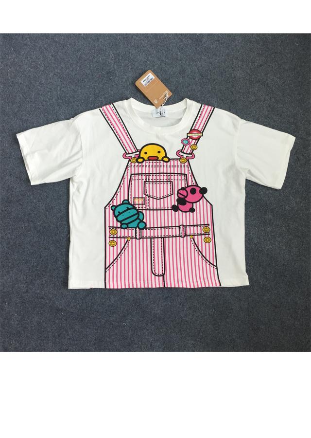 mita.2016夏新款卡通手绘漫画减龄短袖t恤
