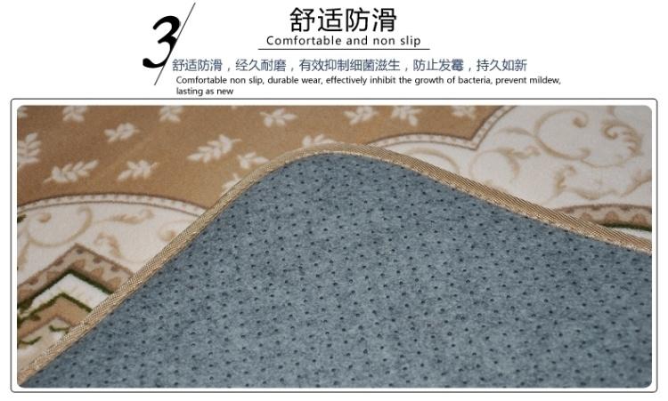 珊瑚绒地毯客厅卧室可机洗抗菌欧式田园床边玫瑰花茶几垫