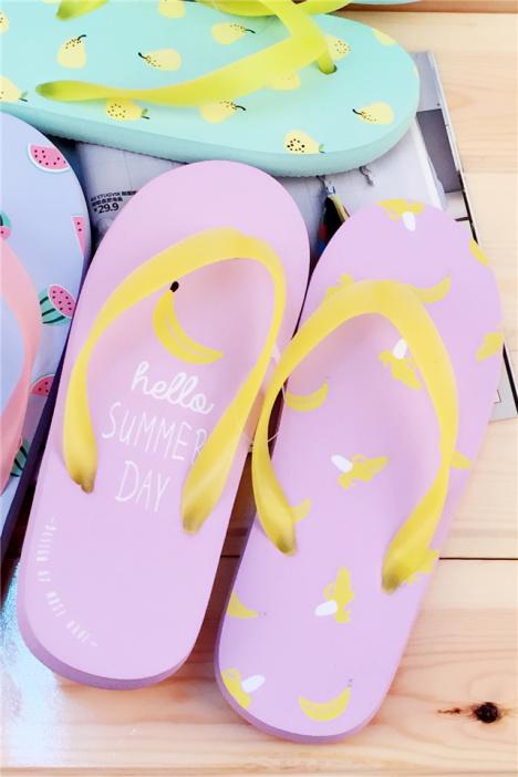 夏季可爱小清新水果人字拖鞋