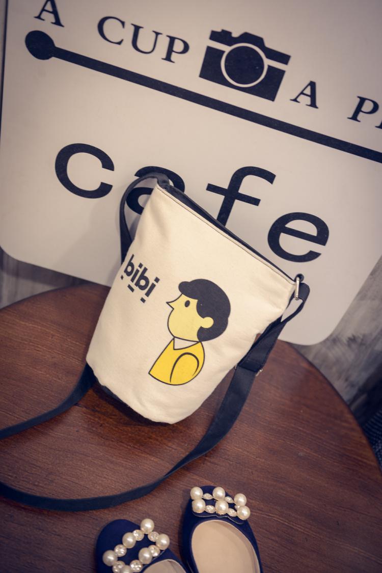 【可爱简约卡通水桶单肩包】-包包-女包