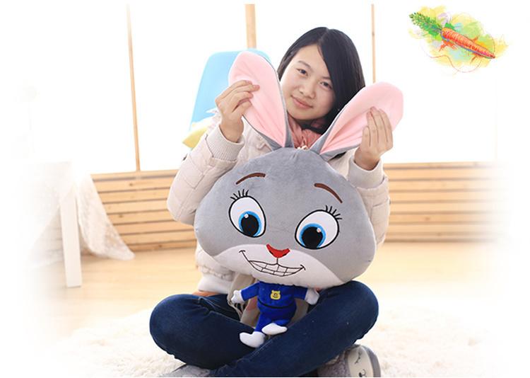 萌萌哒~q版火爆疯狂动物城公仔空调毯