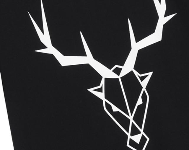 鹿头黑白矢量图