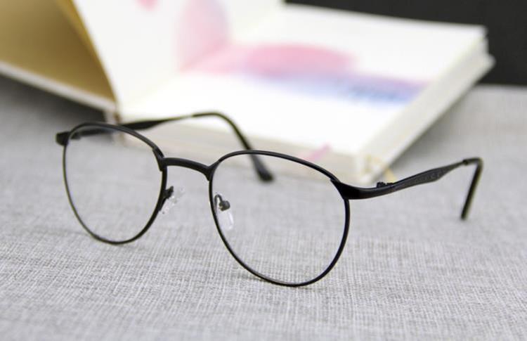 商品描述 韩国官网同款金属细边框圆形眼镜框近视女款文艺范潮男士
