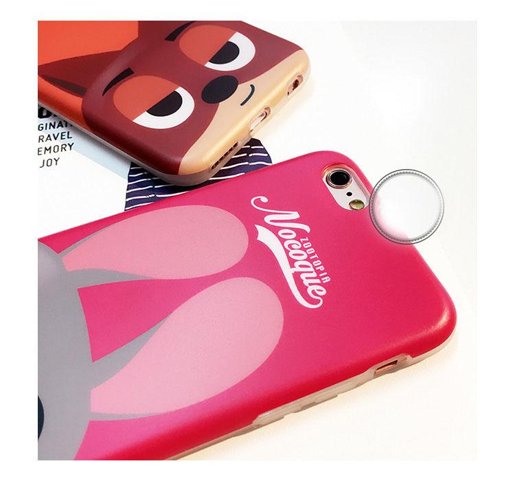 【疯狂动物城苹果6s手机壳iphone6/plus保护套】