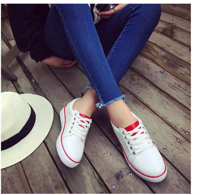 网络红人!林珊珊同款平底小白鞋圆头单鞋