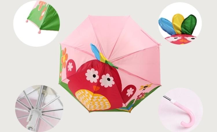 百盛洋伞儿童伞小公主卡通直柄伞小雨伞遮阳伞防紫外