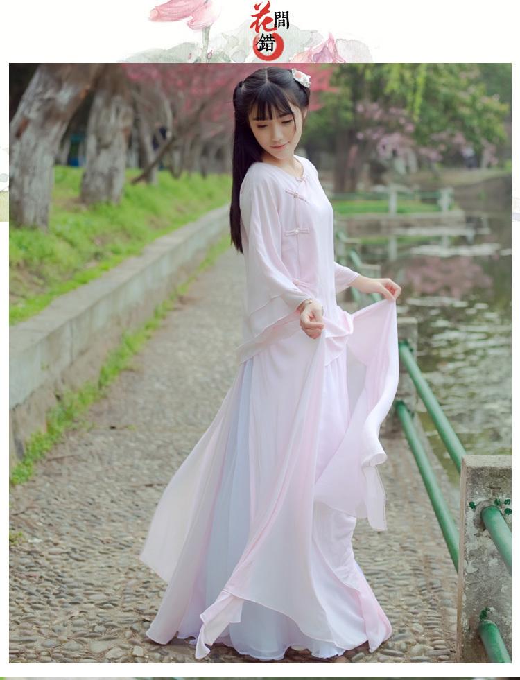 原创设计中国风改良汉服两件套