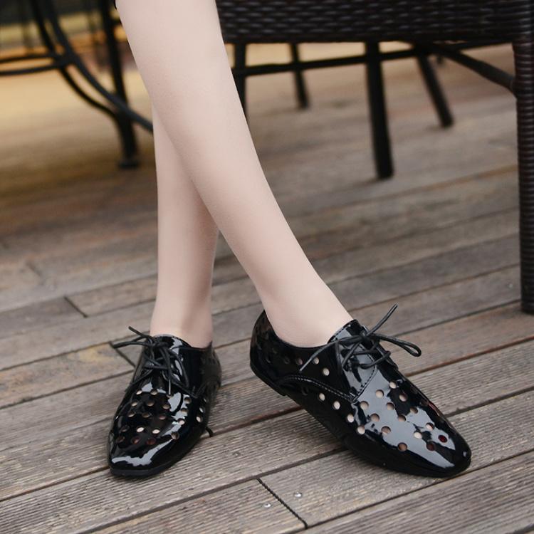 【圆形镂空平底复古布洛克鞋】-鞋子-女鞋_休闲鞋_鞋