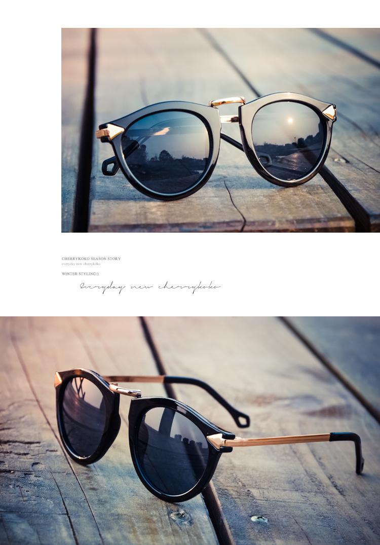 2016明星款复古圆形大框太阳镜女士墨镜时尚可爱太阳眼镜潮