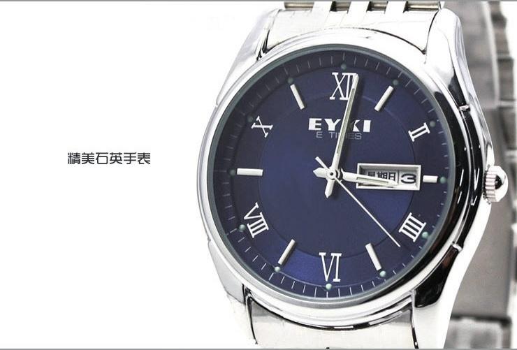 海哹d#9��y.+yki�-X��K�_yki中老年人手表女表男表石英表日历钢带老人手表男士女士手表