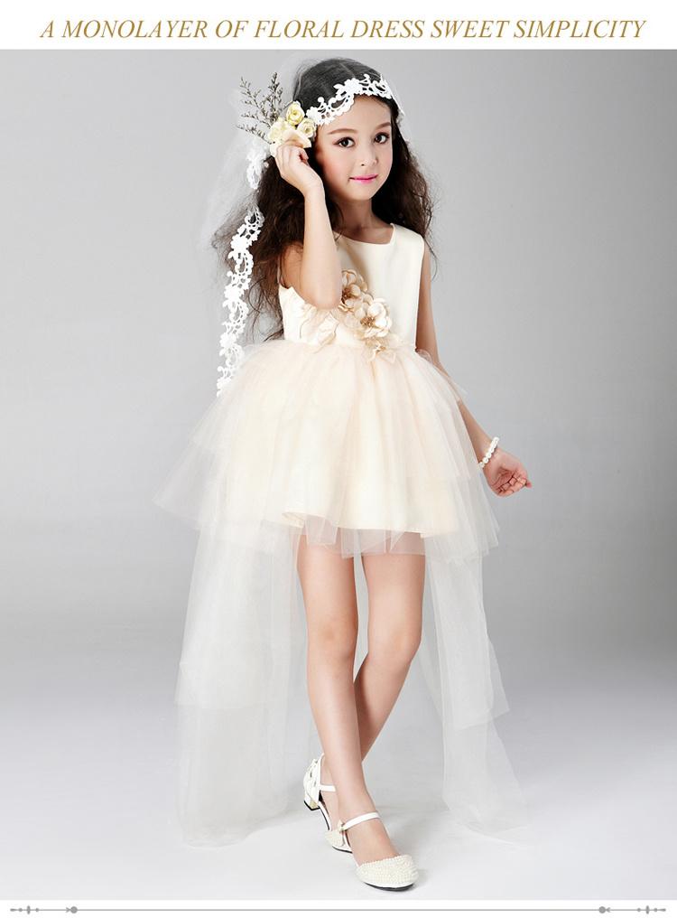 儿童公主拖尾礼服蓬蓬裙表演摄影服装