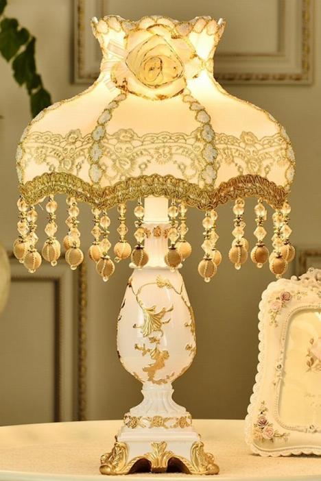 欧式卧室床头结婚庆调光温馨台灯