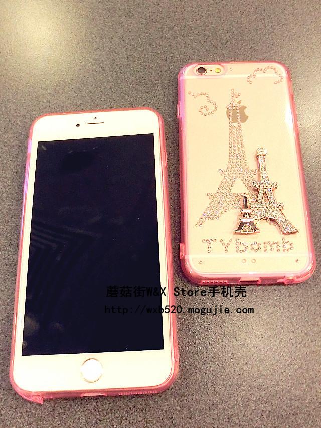 【奢华镶钻埃菲尔铁塔iphone6s/6plus手机壳】-配饰