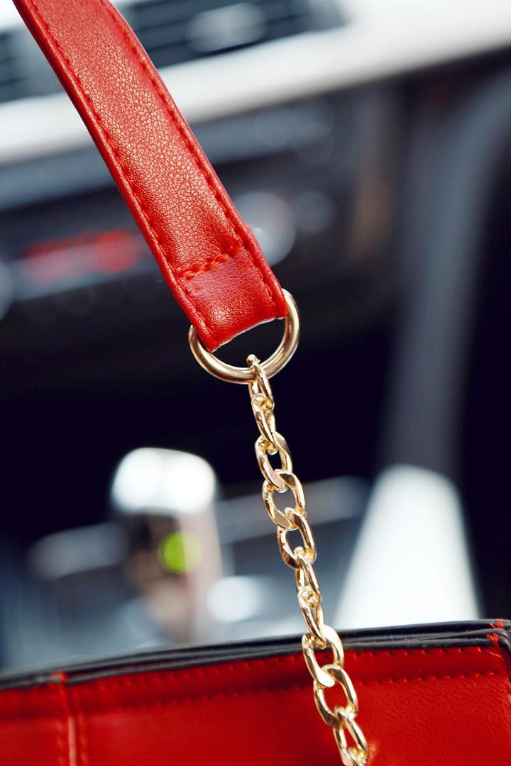 新款暖色时尚饺子造型链条包