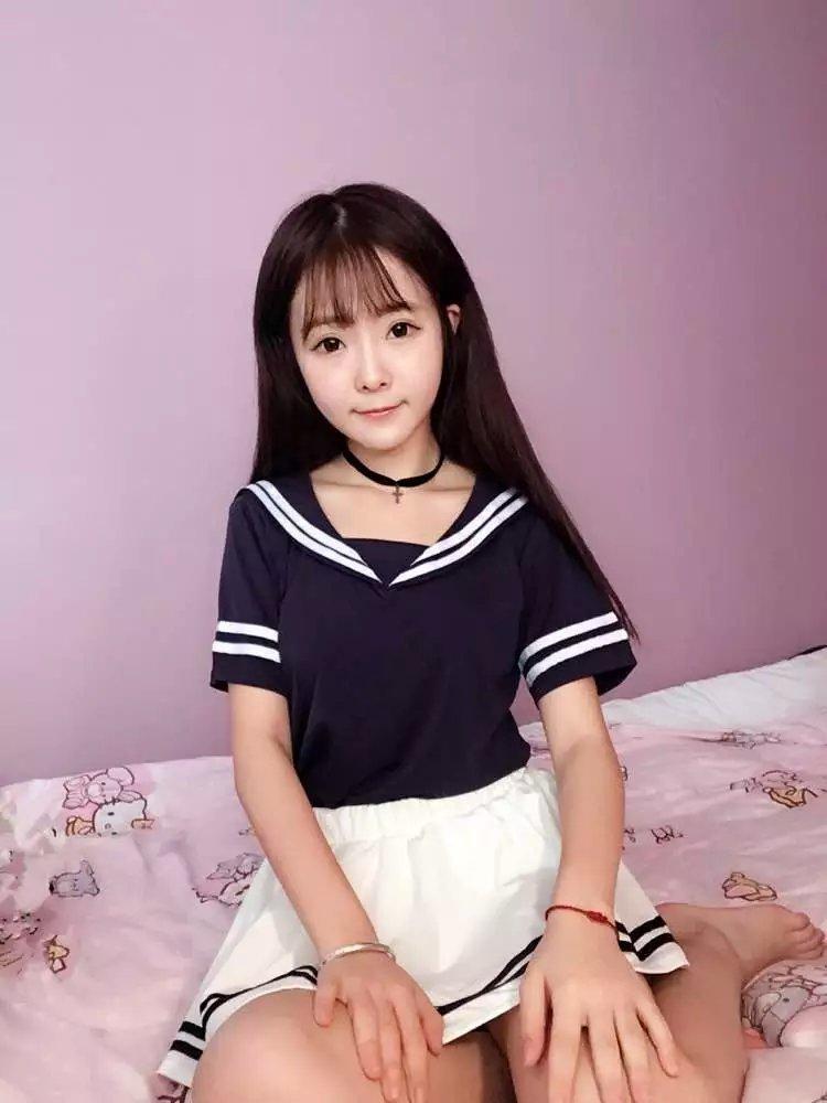jk制服发型搭配无刘海分享展示图片图片