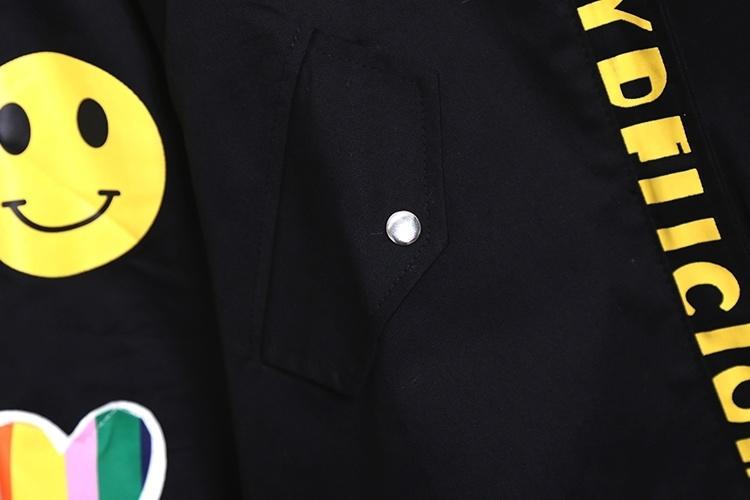 【春季新款韩版马卡龙拼色字母风衣外套】-衣服-棒球